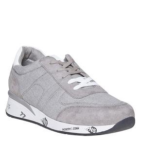 Sneakers grigie da uomo north-star, bianco, 849-1501 - 13