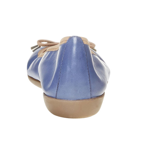 Ballerine da donna in pelle bata, viola, 524-9485 - 17