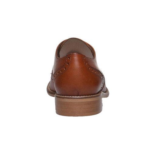 Scarpe basse da donna in pelle con decorazioni bata, marrone, 524-3488 - 17