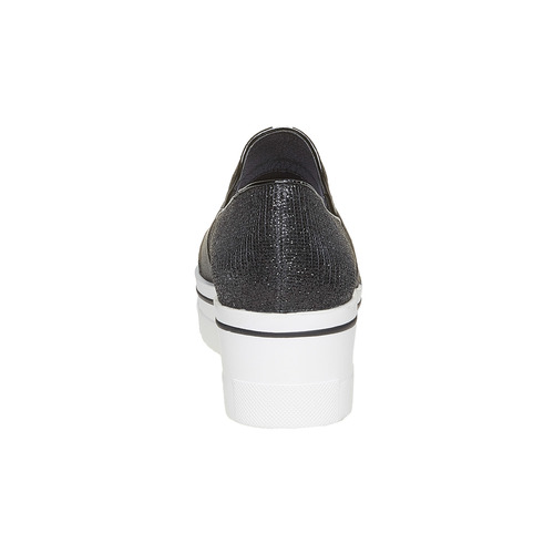 Slip-on da donna con flatform north-star, nero, 519-6141 - 17