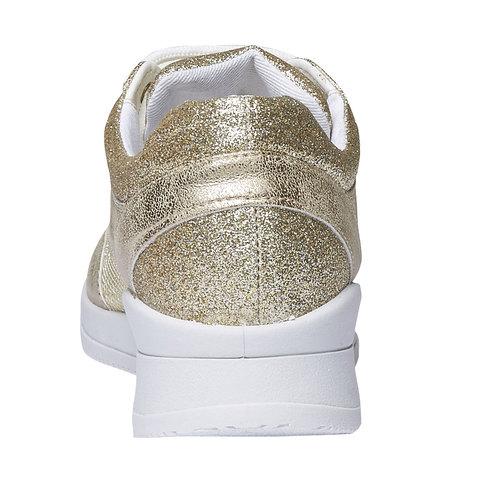 Sneakers con riflessi dorati north-star, giallo, 549-8232 - 17