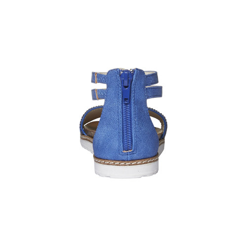 Sandali da ragazza con strass mini-b, blu, 361-9161 - 17