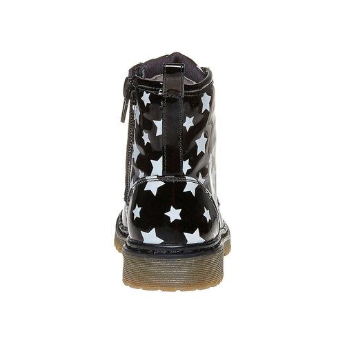 Scarpe da bambina sopra la caviglia con suola appariscente mini-b, nero, 291-6159 - 17