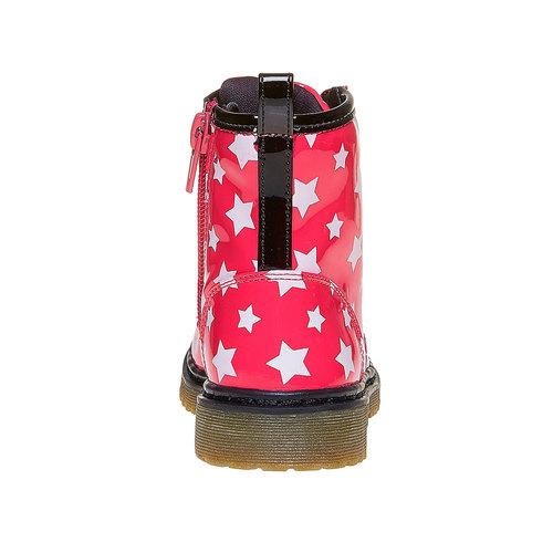 Scarpe da bambina sopra la caviglia con stelline mini-b, rosa, 291-5159 - 17