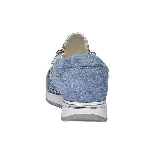 Sneakers dal design intrecciato north-star, viola, 531-9114 - 17