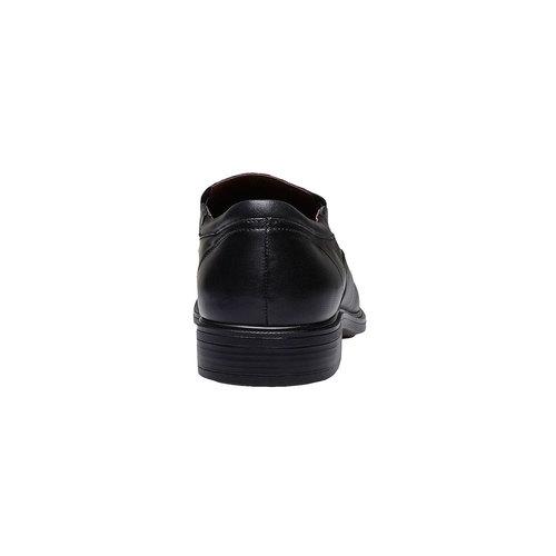 Scarpe basse comode di cuoio bata-comfit, nero, 814-6934 - 17
