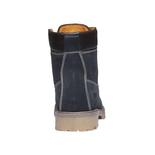 Scarpe in pelle con suola a carro armato weinbrenner, viola, 596-9599 - 17