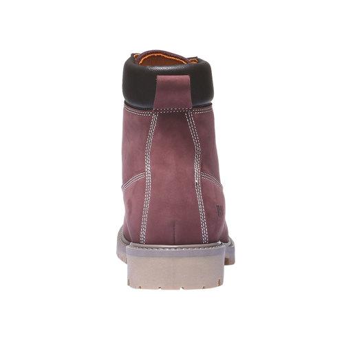 Scarpe in pelle con suola a carro armato weinbrenner, rosso, 596-5546 - 17