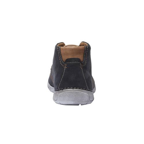 Scarpe di pelle alla caviglia weinbrenner, blu, 896-9442 - 17