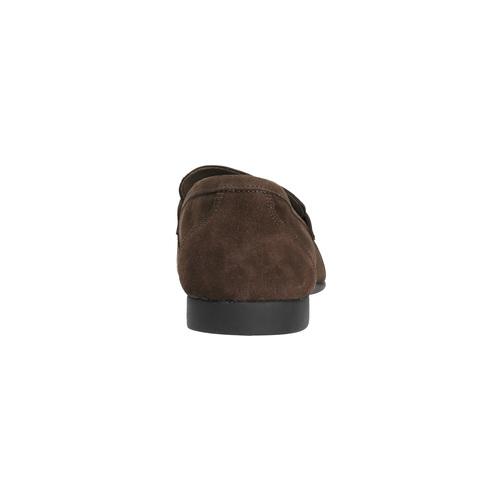 Mocassini da uomo in pelle flexible, marrone, 853-4186 - 17