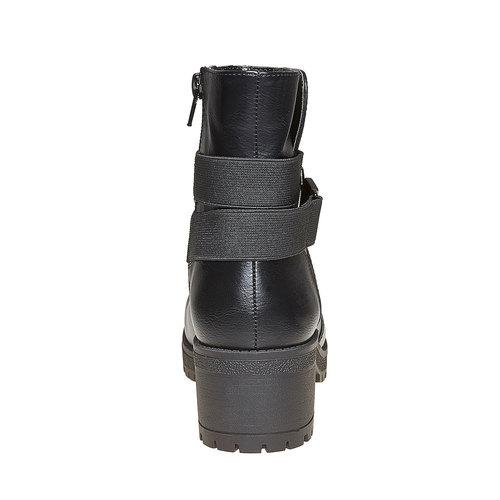 Stivaletti con tacco ampio bata, nero, 691-6260 - 17