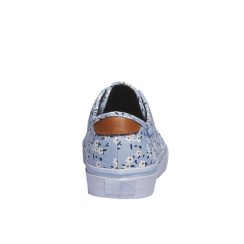 Sneakers da donna con stampa floreale vans, blu, 589-9290 - 17