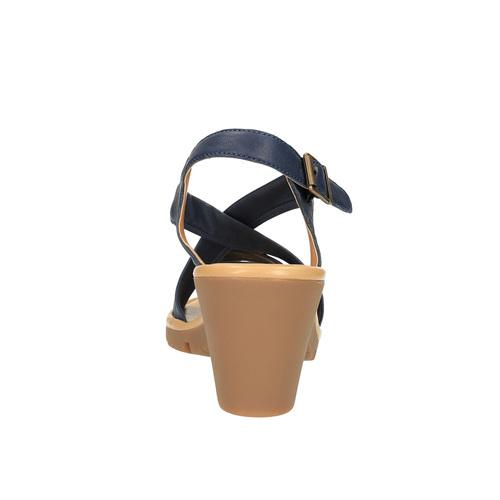 Sandali da donna in pelle flexible, viola, 764-9538 - 17