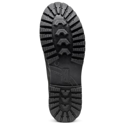 Scarpe in pelle con lacci originali bata, nero, 894-6180 - 17