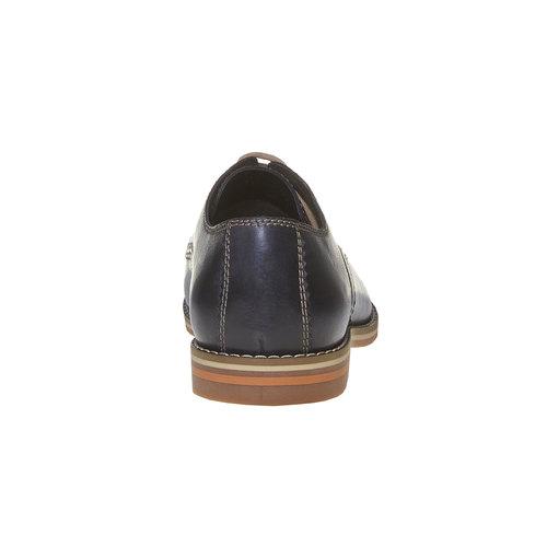 Scarpe basse di pelle in stile Derby bata, blu, 824-9745 - 17