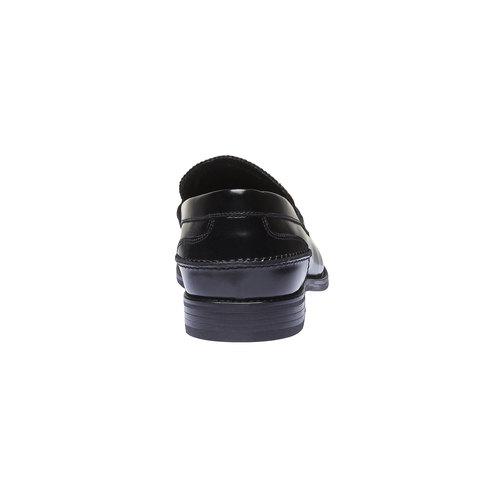Penny Loafer di pelle bata, nero, 818-6128 - 17
