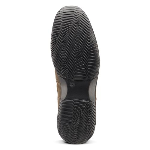 Scarpe in pelle scamosciata bata, marrone, 843-3315 - 17