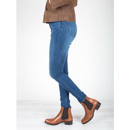 Scarpe di pelle in stile Chelsea bata, marrone, 594-4448 - 18