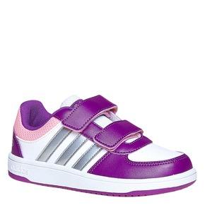 Sneakers da bambina con chiusure a velcro adidas, bianco, viola, 301-1167 - 13