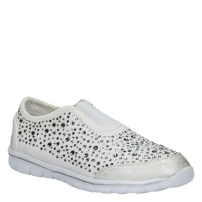 Sneakers da ragazza con strass mini-b, bianco, 329-1203 - 13