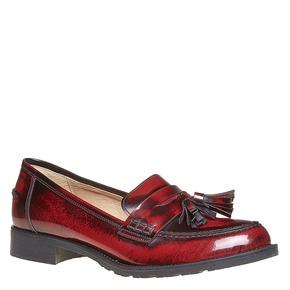 Loafers in pelle con nappe bata, rosso, 514-5246 - 13