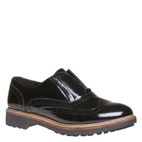 Scarpe basse da donna verniciate bata, nero, 511-6194 - 13
