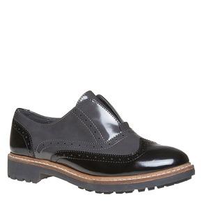 Scarpe basse da donna verniciate bata, grigio, 511-2194 - 13