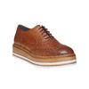 Scarpe basse di pelle con flatform bata, marrone, 524-3255 - 13