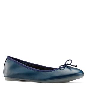 Ballerine in pelle bata, blu, 524-9144 - 13