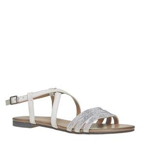 Sandali da donna con strass bata, grigio, 561-2319 - 13