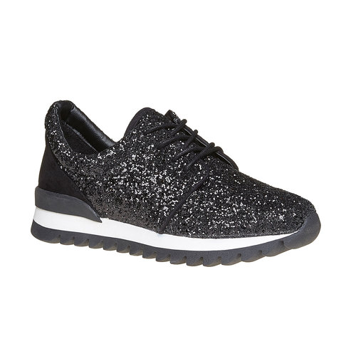 Sneakers nere da donna con glitter north-star, nero, 549-6262 - 13