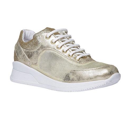 Sneakers con riflessi dorati north-star, giallo, 549-8232 - 13