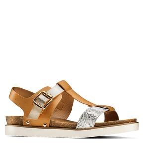 Sandali da donna bata, marrone, 561-8295 - 13