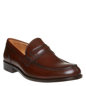 Penny Loafer di pelle da uomo bata-the-shoemaker, marrone, 814-4160 - 13