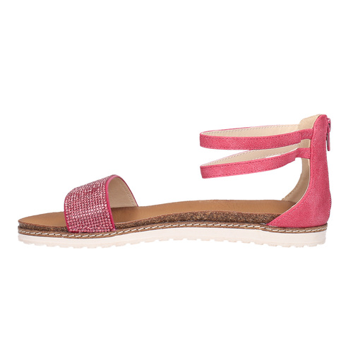 Sandali rosa da bambina mini-b, rosa, 361-5161 - 26