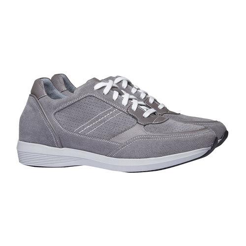 Sneakers da uomo in pelle bata, grigio, 843-2645 - 26