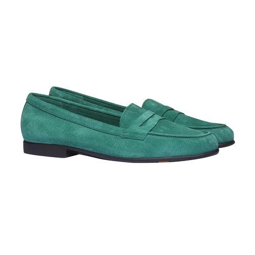 Penny Loafer di pelle flexible, verde, 513-7196 - 26