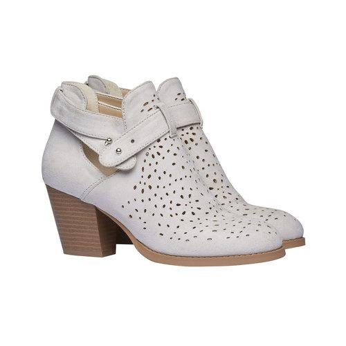 Stivaletti alla caviglia bata, bianco, 799-1627 - 26