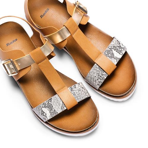 Sandali da donna bata, marrone, 561-8295 - 26