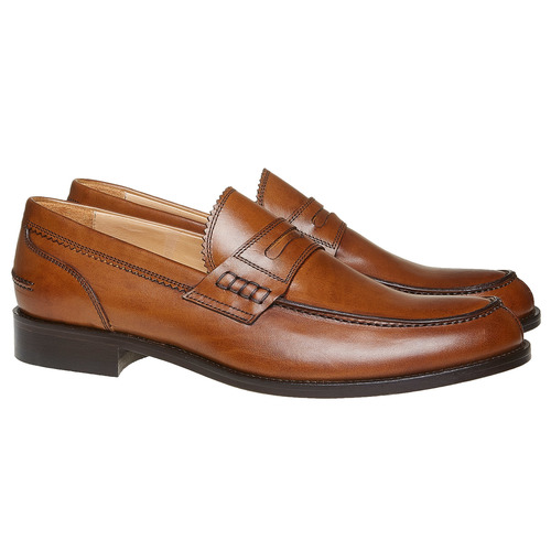 Penny Loafer di pelle da uomo bata-the-shoemaker, marrone, 814-3160 - 26