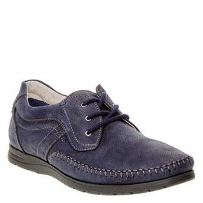 Scarpe basse informali di pelle bata-comfit, viola, 856-9183 - 13