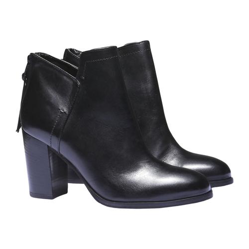 Scarpe di pelle alla caviglia bata, nero, 794-6576 - 26