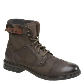 Scarpe di pelle alla caviglia bata, khaki, 894-2165 - 13