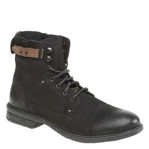 Scarpe di pelle alla caviglia bata, nero, 894-6165 - 13