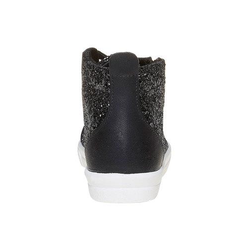 Sneakers alla caviglia con glitter north-star, nero, 329-6237 - 17