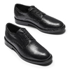 Brogue in pelle Comfort bata-comfit, nero, 824-6938 - 19