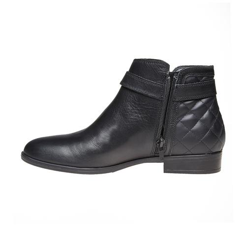 Scarpe di pelle alla caviglia bata, nero, 594-6167 - 19