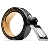 Cintura elegante in vera pelle bata, nero, 954-6819 - 26