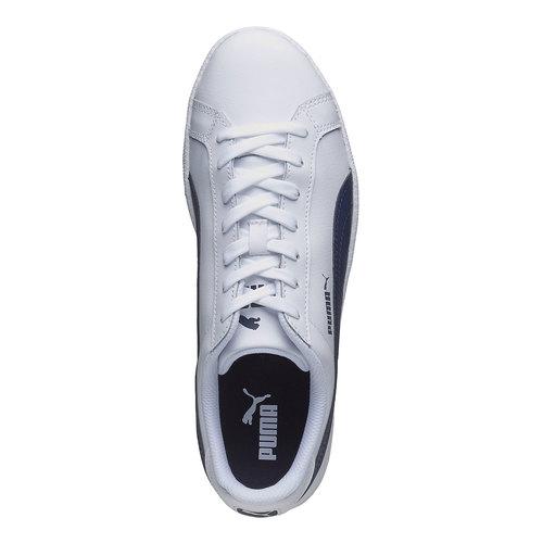 Sneakers bianche di pelle puma, bianco, 804-1151 - 19