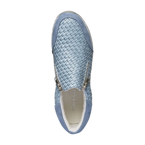 Sneakers dal design intrecciato north-star, viola, 531-9114 - 19